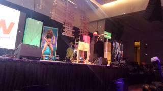 Davido, Lil Kesh, Cynthia Morgan performing at Yaw Live On Stage