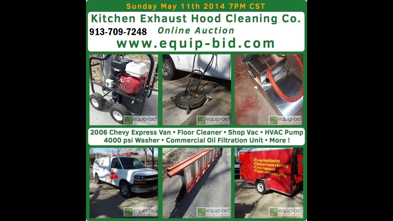 Kitchen Exhaust Hood Cleaning Co Auction