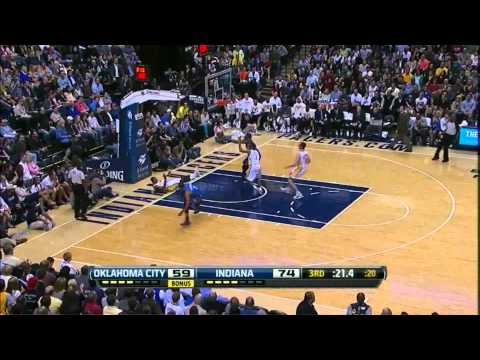 Kevin Durant 44 points (amazing facial dunk on Roy Hibbert) vs Indiana Pacers full highlights 04.06