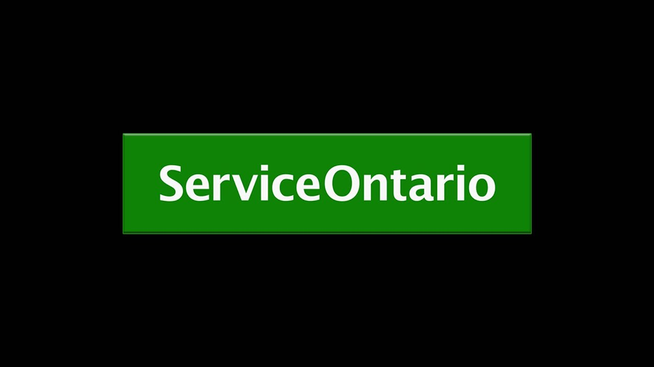 Service ontario youtube aiddatafo Image collections