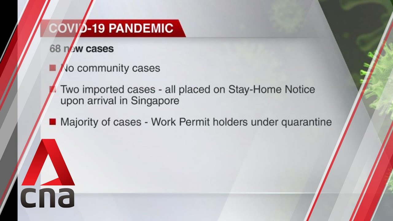 Covid 19 Update Aug 20 Singapore Reports 68 New Cases Youtube