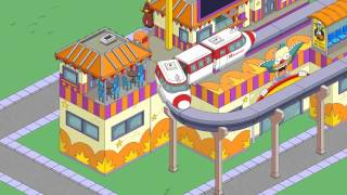The Simpsons Tapped Out MINI MONORAIL LINE