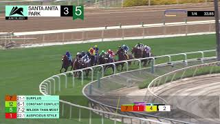 Constant Conflict wins Race 3 on Friday, June 18, 2021 at Santa Anita Park.