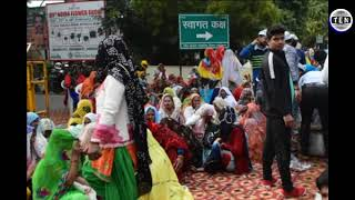 Farmers Protest in front of Noida Authority  