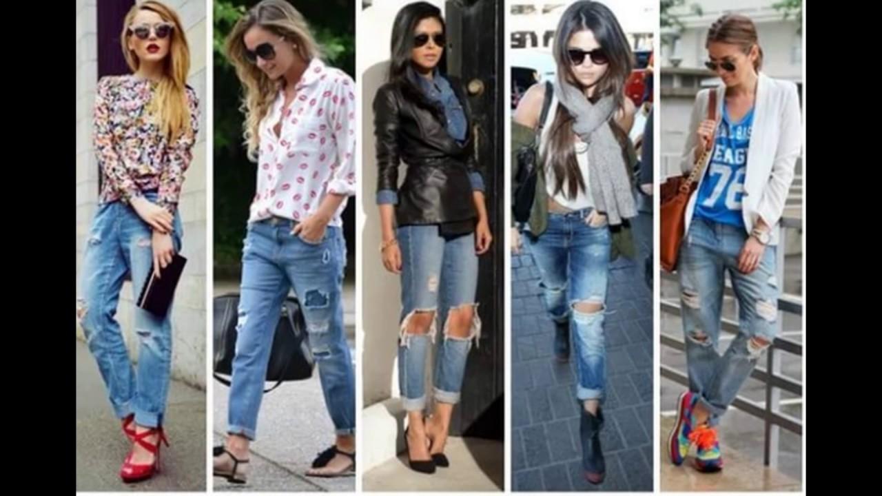 Джинсы мода 2017 | Модные джинсы весна лето 2017 - YouTube