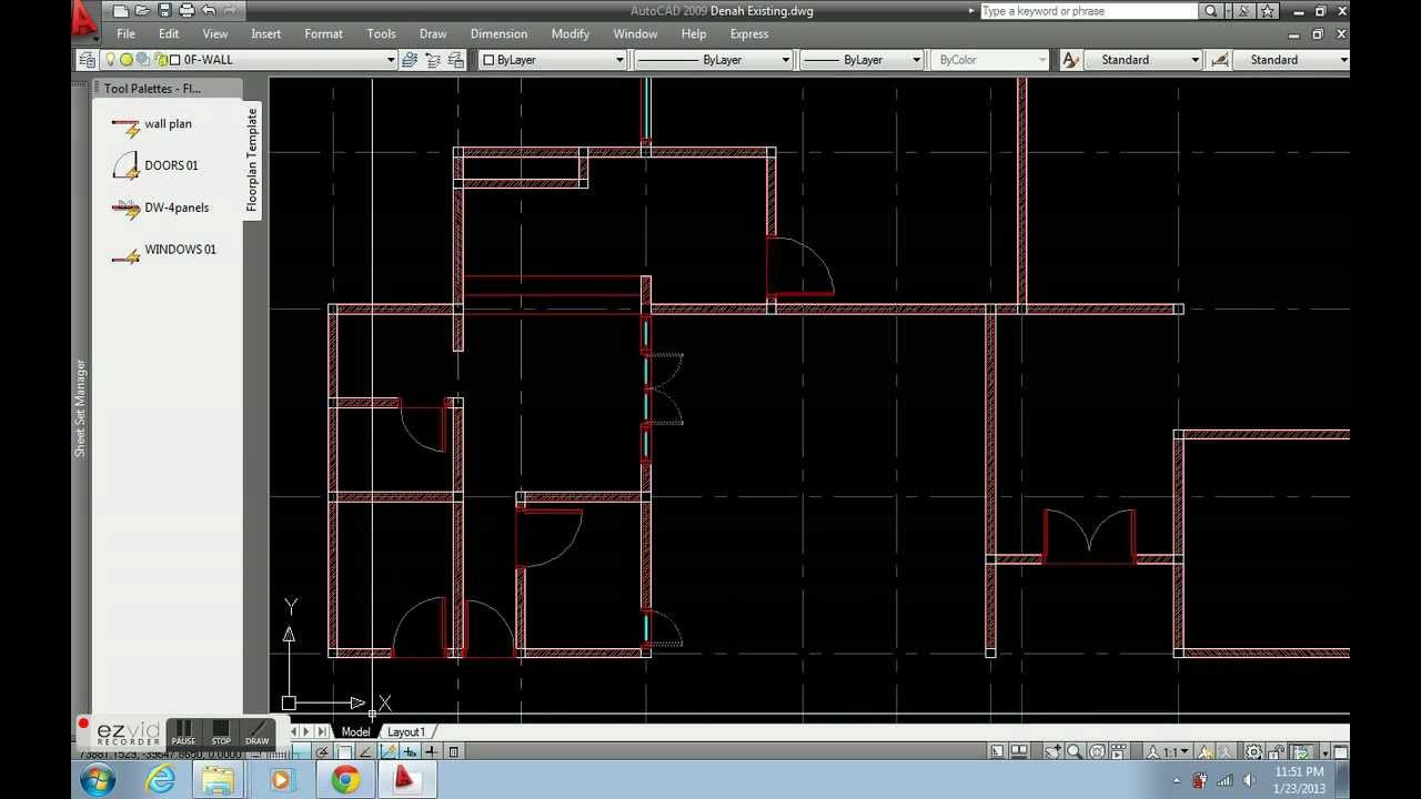 Create Floor Plan With Autocad Dynamic Block Youtube