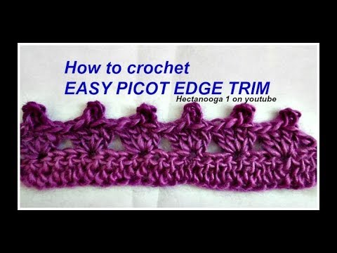 PICOT EDGE CROCHET TRIM, for pillowcases, towels, sweaters, blouses ...
