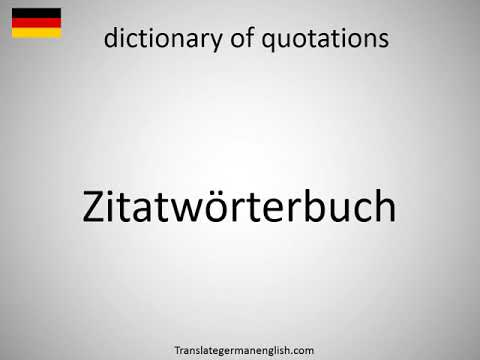 How to say dictionary of quotations in German? (Zitatwörterbuch)