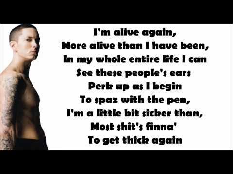 Eminem - No Love (feat. Lil' Wayne) Lyrics Video