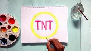 How to draw the TNT tv channel logo