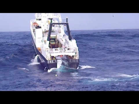 Riding Large Swells During Offshore Fishing