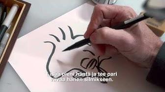 Tenavat-elokuva: Opettele piirtämään Kaustinen (Peanuts: How to draw Woodstock)