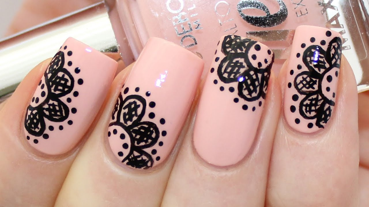 Lace Nail Art Tutorial Youtube