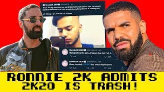RONNIE2K HACKED! SAYS NBA 2K20 IS TRASH! LEAKS DRAKES PROFILE! RONNIE2K EXPOSED BAD!