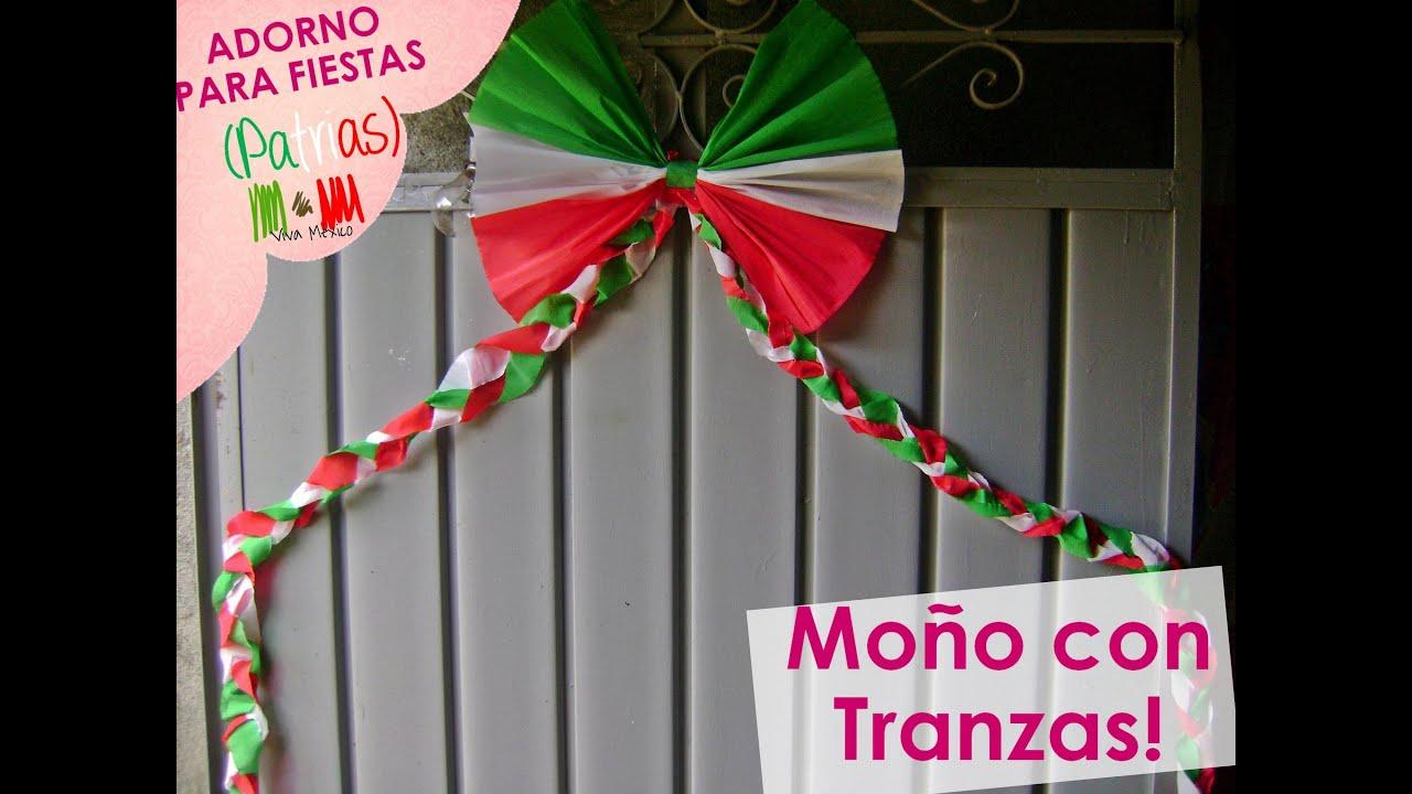 Xoolexiitoo adorno para fiestas patrias mo o con trenzas for Puertas decoradas 16 de septiembre
