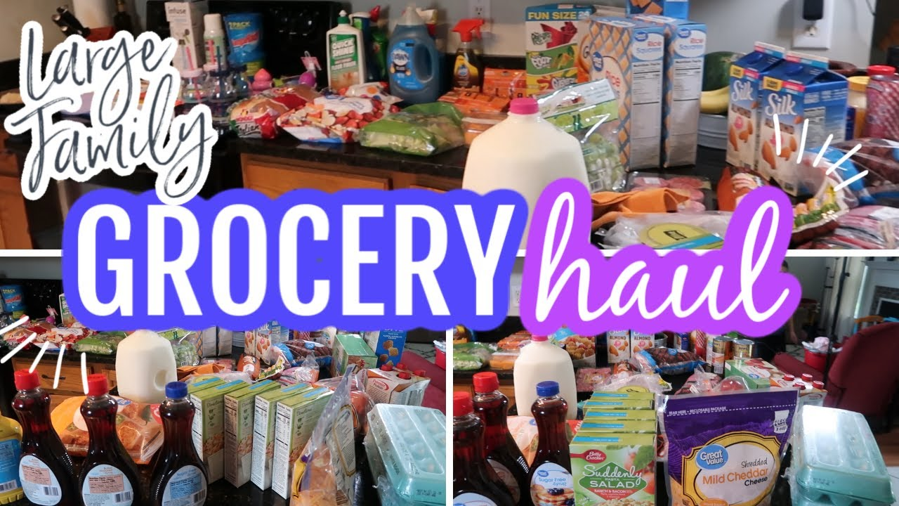 HUGE GROCERY HAUL FOR LARGE FAMILY || HOW I AM STOCKING UP FOR FOOD || SUMMER 2020
