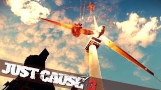 TETHER WIND TURBINE MADNESS  :: Just Cause 3 PC Gameplay