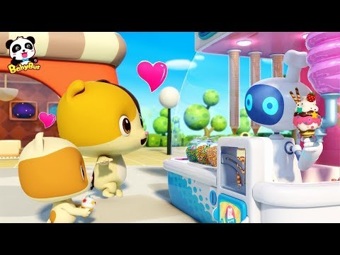 Magical Ice Cream Robot Vending Machine | Baby Kitten Loves Ice Creams | Kids Song | BabyBus