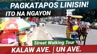 NAGBALIKAN NA! MALAPAD NA SIDEWALK SA KALAW AVE.   UNITED NATIONS AVE. MANILA STREET WALKING TOUR