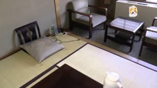 Комната в Японском стиле в отеле на горячих источниках.