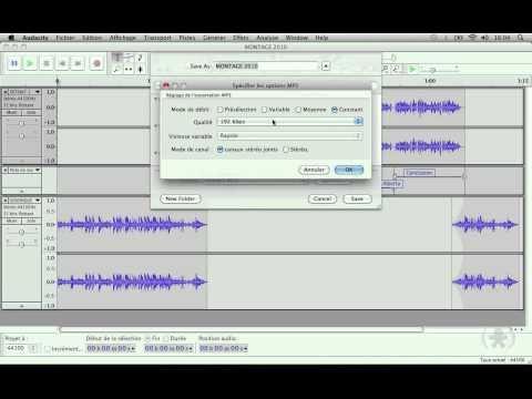 Audacity (9/9) - Exportation du projet au format mp3 ou wave