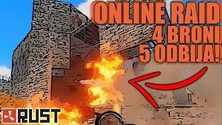Rust - Raid Online vs 4 & 5 typa próbuje odbijać!!! /z Ekipą