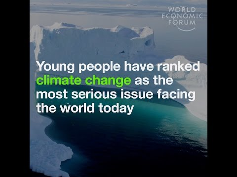 Young people have ranked climate change as the most serious issue facing the world today