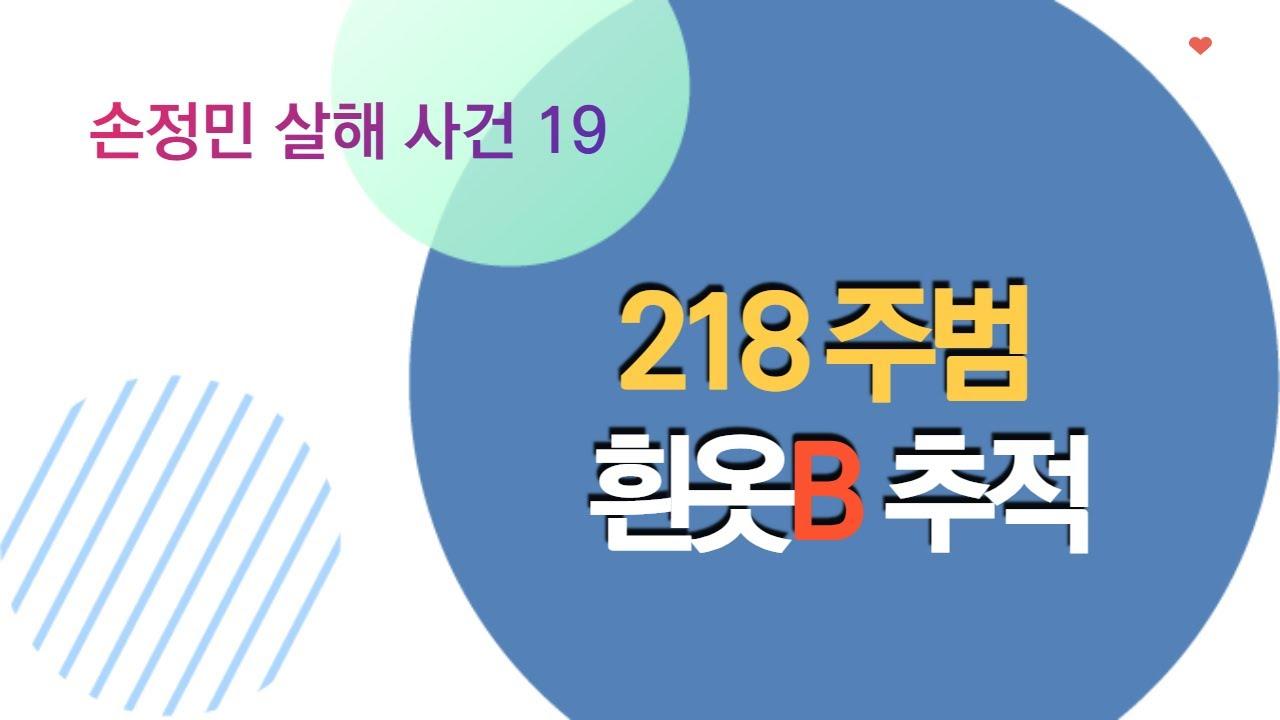 손정민 19- 218 주범 흰옷B 추적