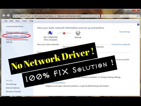 No Network Adapter/Driver Installed FIX 100%