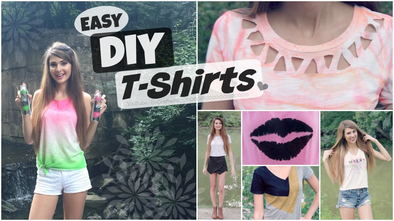 6 easy t shirt diys decorate transform reconstruct t shirts