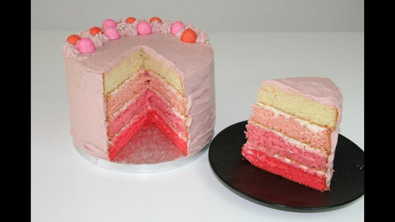 Favori gâteau dégradé rose/Gâteau anniversaire girly - YouTube OW08