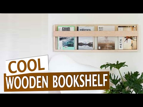 Cool wooden bookshelf DIY!