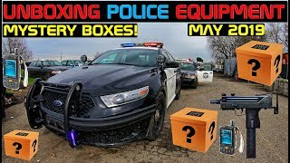 Unboxing Police Equipment Mystery Boxes! May 2019 Crown Rick Auto