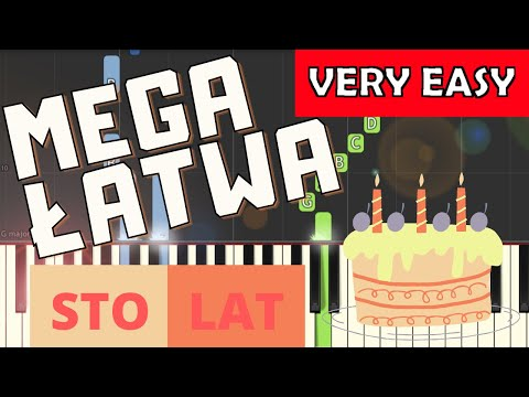 🎹 Sto lat - Piano Tutorial (MEGA ŁATWA wersja) 🎹