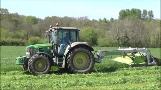 First Grass for Silage 2017 - Mowing with John Deere & Claas
