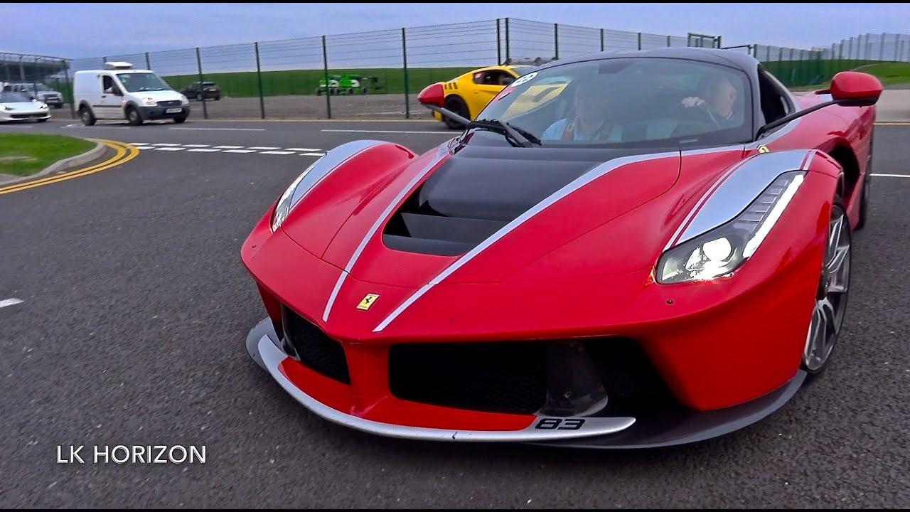 Ferrari LaFerrari Sounds on Track! - Flybys, Start Up & Details.