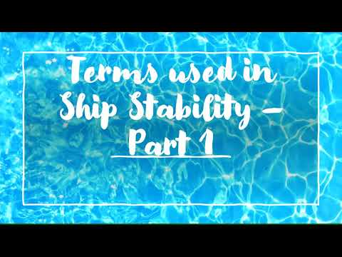 Understanding the basic terms used in ship stability - Part 1