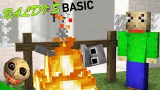 BALDI'S BASIC HORROR GAME | Monster School - MInecraft Animations