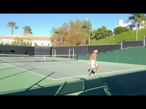 EMH v. Ronaldo Gibson(Barbados Davis Cup)Strong 5.5 NTRP Tennis HD Los Angeles