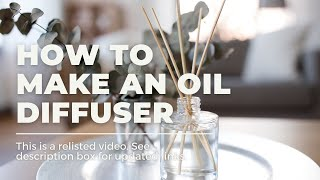 How To Make A Homemade Essential Oil Diffuser Thumbnail