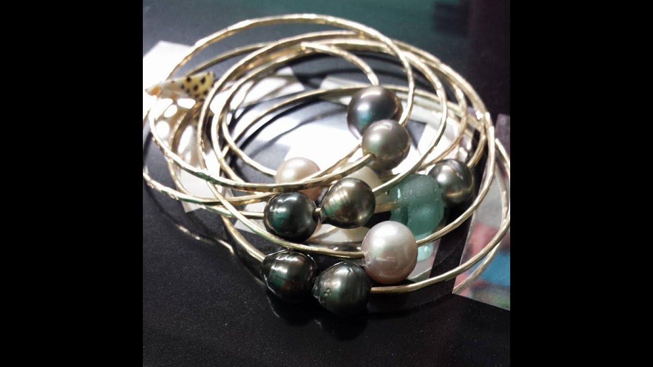 south bracelet bangle p pearl bangles mm sea