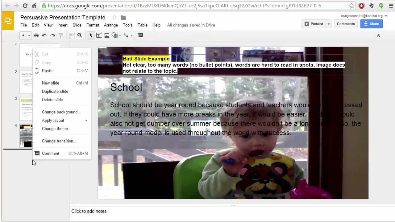google slides and presentation design basics youtube