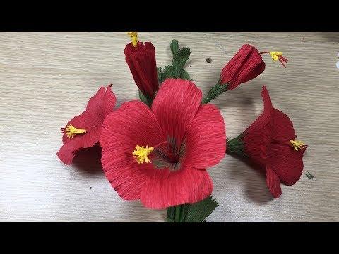 Easy Make Hibiscus Flowers - Craft Ideas