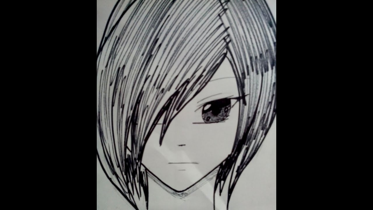 Worksheet. Como dibujar un rostro anime de frente de una forma facil y