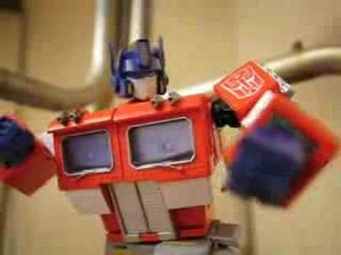Transformers Stop Motion Bumblebee Beats Optimus Prime Youtube