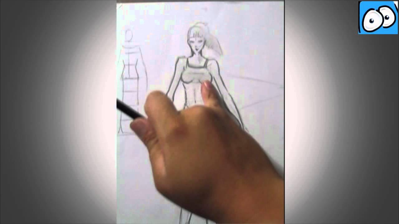 Dibujo Comic - Boceto cuerpo de mujer - Cartoonarte - Dibujo rapido ...