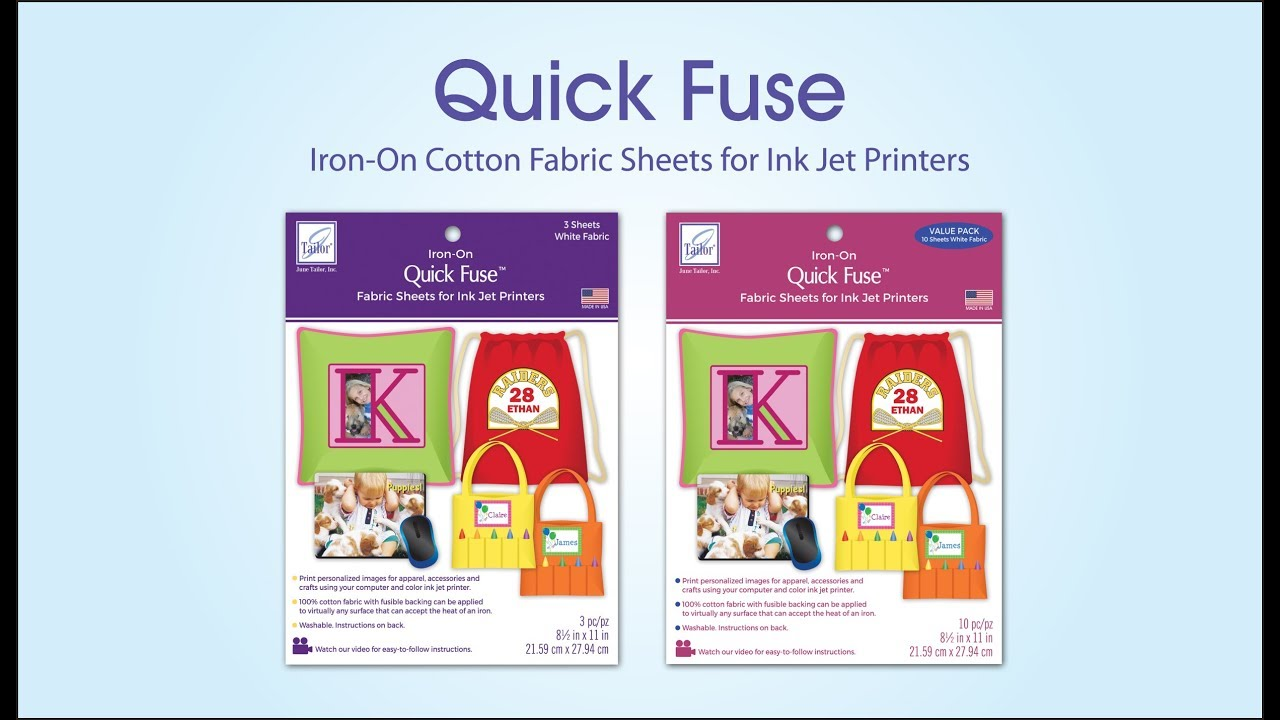 image relating to Printable Fabric Sheets for Inkjet Printers called Straightforward Fuse Iron-Upon Cloth Sheets