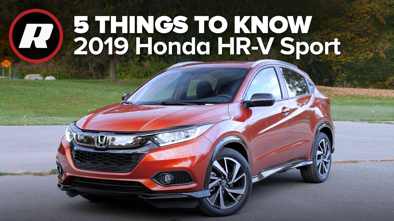 2019 honda hr-v sport  five things you need to know