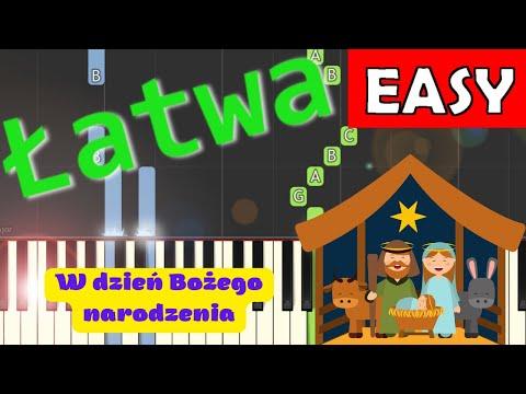 W dzień Bożego Narodzenia - Piano Tutorial (łatwa wersja)
