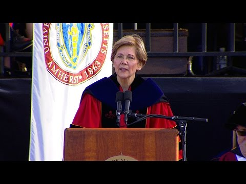U.S. Senator Elizabeth Warren speaks at UMass Amherst Undergraduate Commencement 2017